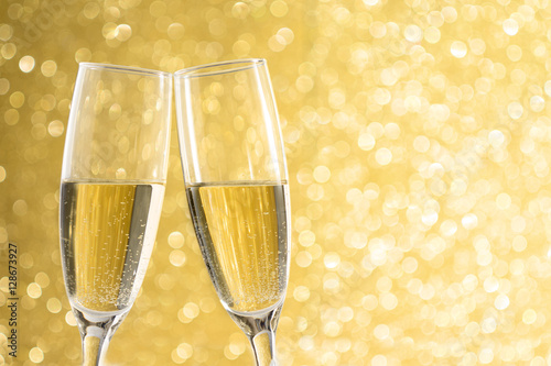 champagne new years eve golden background