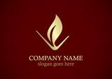 gold leaf organic logo