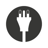 wire cable energy plug icon vector illustration design