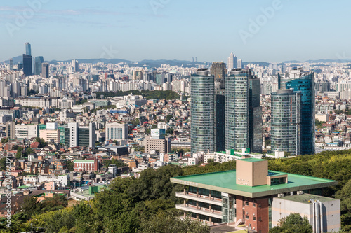 Seoul cityscape with skyscrapers, South Korea
