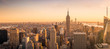 Quadro New York City skyline panorama at sunset