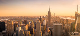 Fototapeta Nowy Jork - New York City skyline panorama at sunset © sinitar