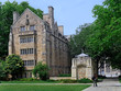 college campus with stone gothic architecture
