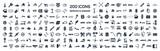 Car service & garage 200 isolated icons set on white background, - 128698905