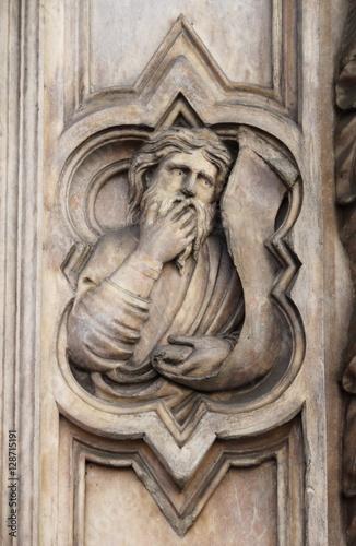 Zdjęcia Basrelief on Bigallo Loggia of Florence, Italy