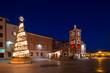 Christmas tree in Marshal Tito square. Rovinj. Croatia.