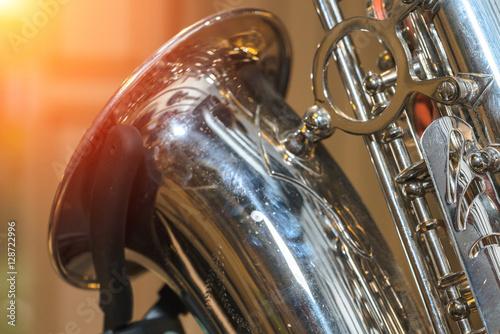 Poster Saxophone alto jazz music instrument