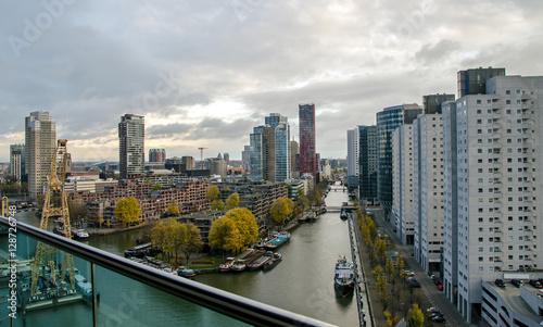 Fotobehang Rotterdam Rotterdem Skyline