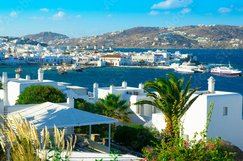 Aluminium A scene of Mykonos island, Greece