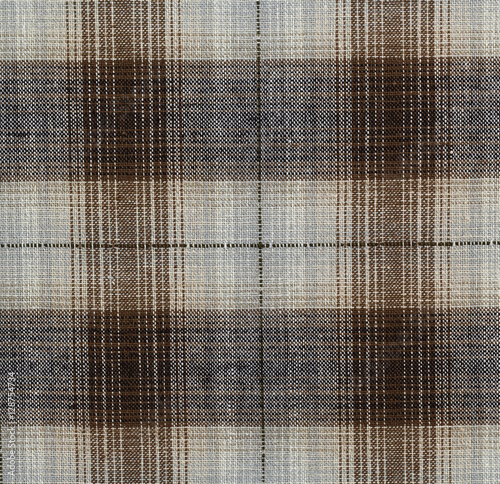 Poster Plaid cotton fabric for background or texture