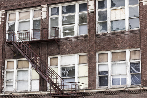 Urban Blight - Abandoned Building - Worn, Broken and Forgotten I