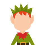 happy merry christmas elf character vector illustration design