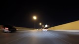 Las Vegas night freeway driving car mount time lapse on route 95 and I-15.