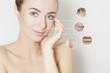 woman portrait,skin revitalizing concept