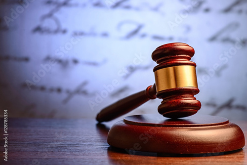 Wooden judge or auctioneers gavel