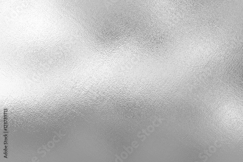 Leinwandbild Motiv Silver foil texture background