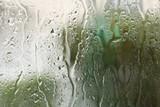 glass window and rain drop background