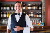 Portrait of confident waiter