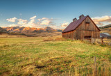 Old Barn at Sunset in Aspen Colorado - 128821586