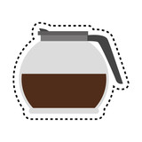 delicious coffee teapot icon vector illustration design