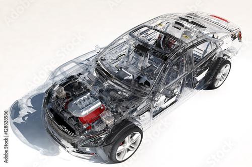Model of modern cars.