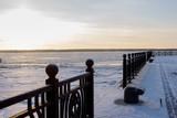 Архангельск, мороз, север, причал, корабли, порт, набережная.