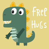cute cartoon dinosaur vector