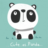 cute cartoon panda illustration vector