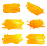 Fototapety Collection of photos yellow ochre strokes