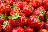 Strawberry. Fresh organic berries macro. Fruit background - 128862325