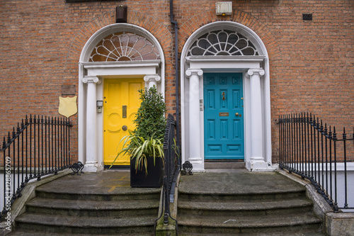 Georgian doors in Dublin Poster