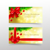005 Christmas card template for invitation and gift voucher with