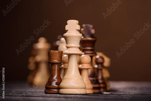 Zdjęcia wood chess pieces