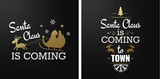 Merry christmas set of luxury gold lettering, with caligraphic letters, text and decoration, collection of premium christmas vector illustration for postcard, banner and wish card - 128874901