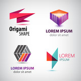 Vector set of abstract colorful logos, company icons.