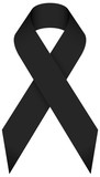 Black Mourning Ribbon - 128885921