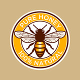 Pure Honey Bee Illustration