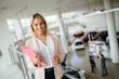 Salesperson workin at car dealership