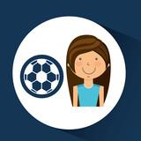 athlete girl football sport style vector illustration eps 10