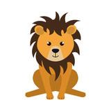 cute little lion animal character vector illustration design