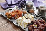 Turkish delight with tea