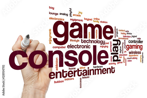 Poster Game console word cloud concept