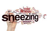 Sneezing word cloud