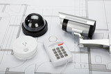 Security Equipment With Blueprint - 128940997