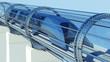 monorail futuristic train in tunnel. 3d rendering - 128941909