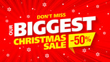 Biggest Christmas sale banner