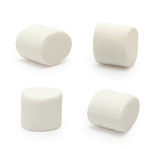 Marshmallows isolated on white background - 128952144
