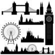 Various landmarks of London