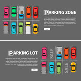 Parking Lon and Zone Top View