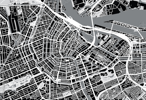City map of Amsterdam - 128972197